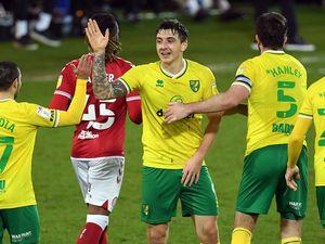 Norwich City's Jordan Hugill celebrates