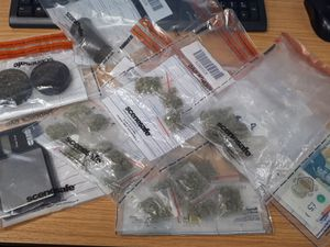 Items seized during the incident. Photo: West Mercia Police