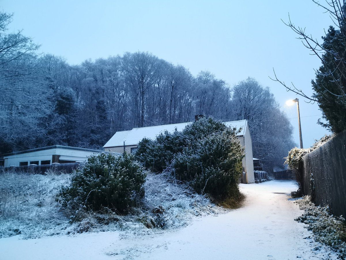 Snow and ice on way to Cumbria