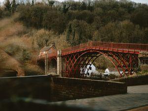 The Iron Bridge in Ironbridge, Telford - a World Heritage Site