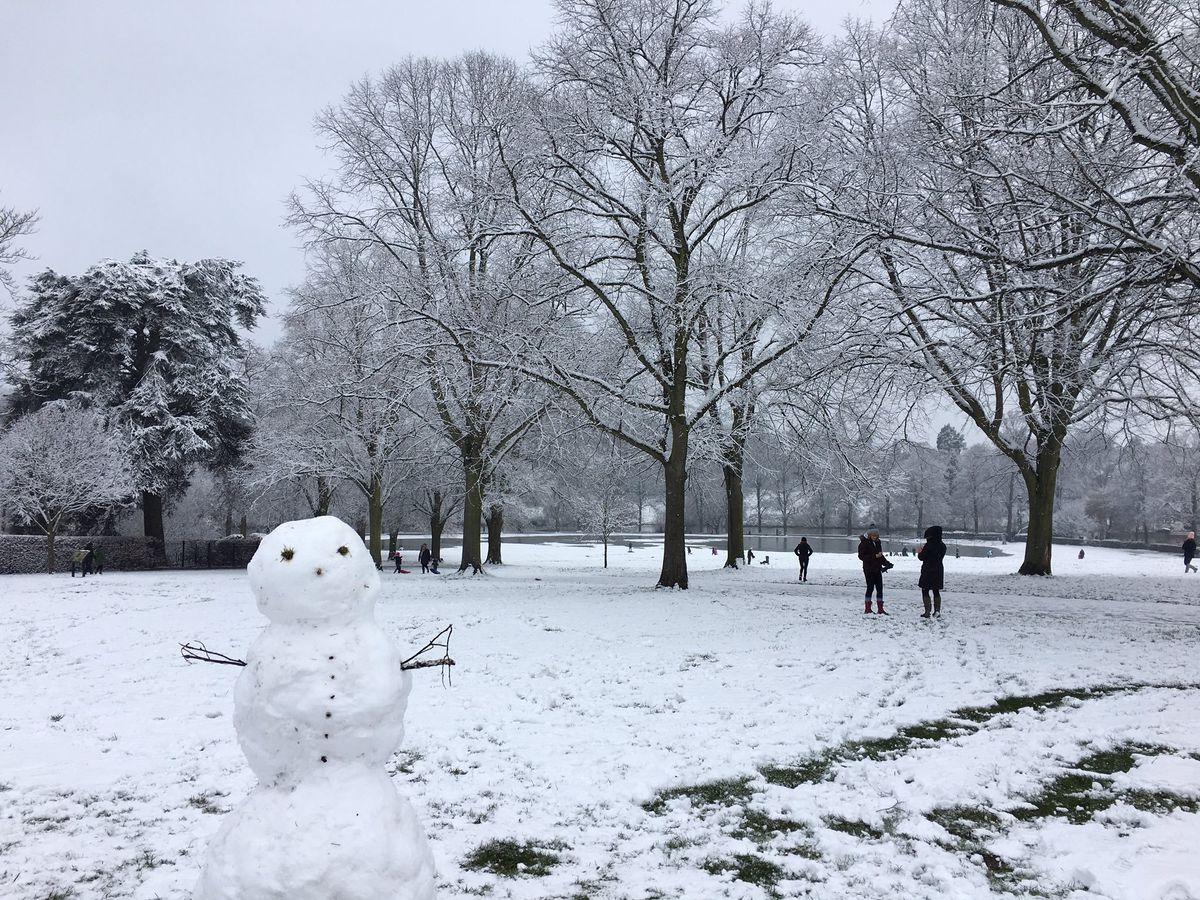 Snow in the Quary Park, Shrewsbury. Photo: Kath @Crescent_Cakes