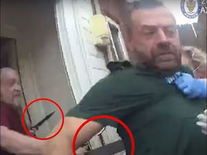 Bodycam footage shows the moment Martyn Smith attacked paramedics Michael Hipgrave and Deena Evans. Photo: West Midlands Police