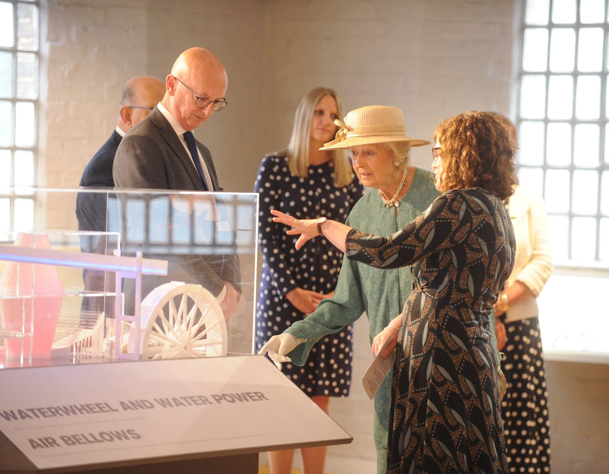Princess Alexandra was fascinated by the exhibits on show at the Museum of Iron