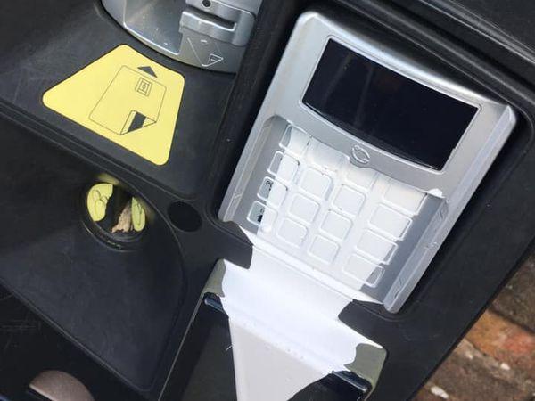 Both ticket machines at Listley Street North Car Park have been vandalised. Photo: Dawn Dawson