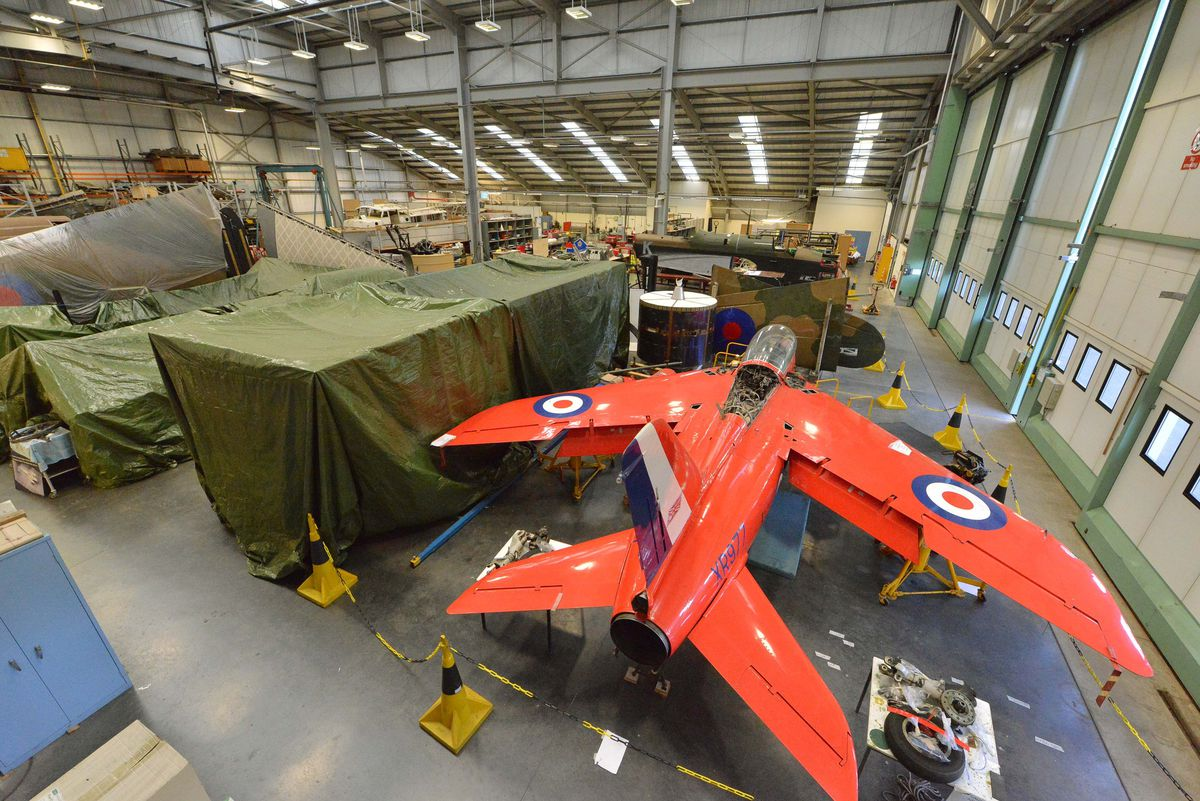 The conservation hanger at Royal Air Force Museum