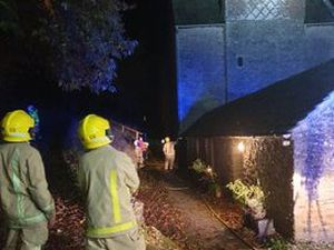 Firefighters at the youth hostel. Photo: Shropshire Fire & Rescue Service.