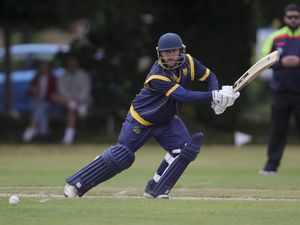 Ryan Lockley of Shropshire batting on his way to scoring a 50.
