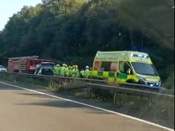 Major delays as three-car crash shuts A5 near Shrewsbury