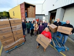 Operation Christmas as shoeboxes of presents from Shropshire are sent off - with video
