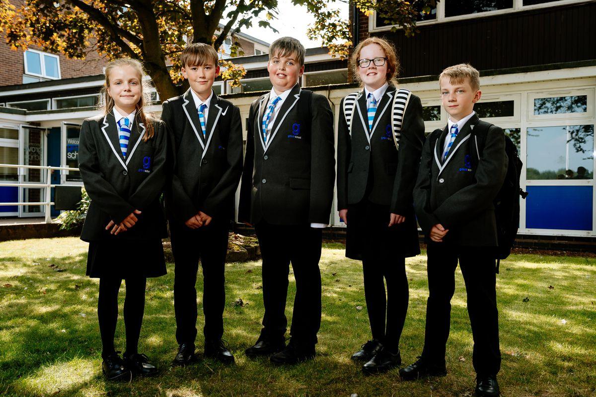 Isla Wilkinson, Ellis Jackson, Harrison Stewart-Reid, Hannah Pearson and Daniel Abbott, all aged 11, have started at Grove School in Market Drayton