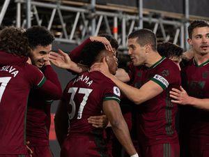 Adama Traore of Wolverhampton Wanderers celebrates after scoring a goal to make it 0-1 (AMA)