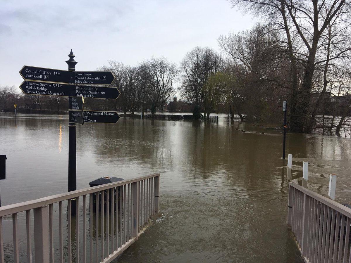 No way through at one of Shrewsbury's main car parks