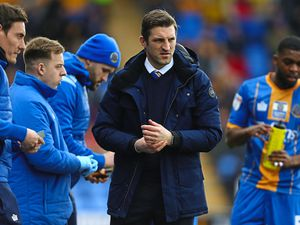 Sam Ricketts the head coach / manager of Shrewsbury Town