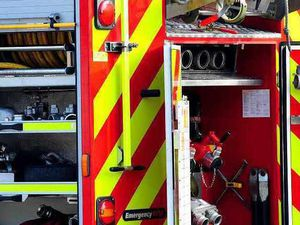Shropshire crew head to excavator fire call out