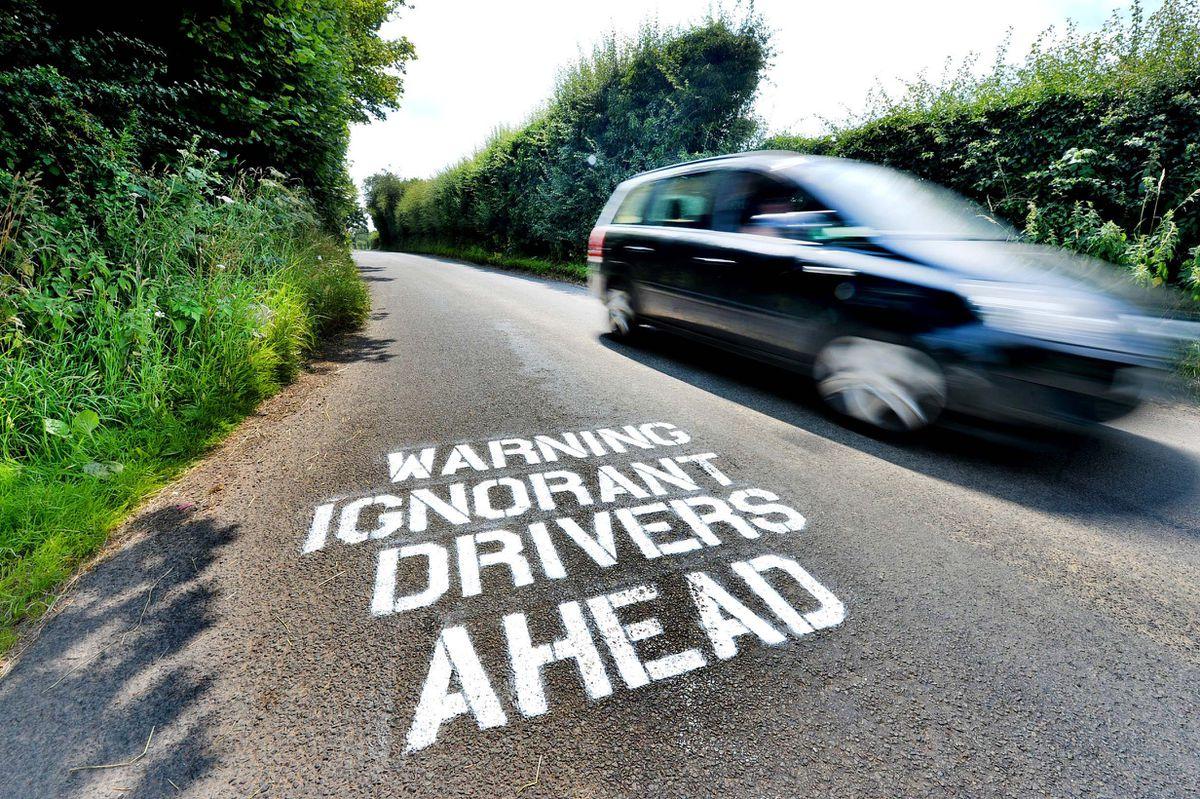 Mystery surrounds the graffiti criticising drivers