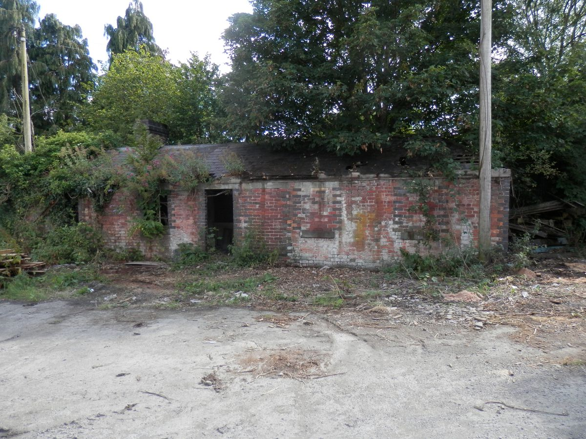 The crumbling weighbridge office is one of the last vestiges of the vanished Bishop's Castle Railway line