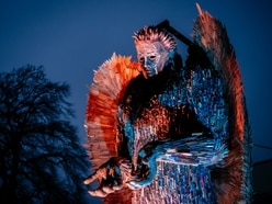 Candlelight walk to bid Knife Angel farewell