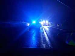 Driver seriously hurt as van lands in field near Ellesmere