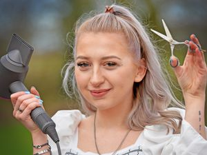 Ruby Ankers, 21, from Whixall, has won 'Hairdresser of the Year' at the Social Media Hair and Beauty Awards 2021