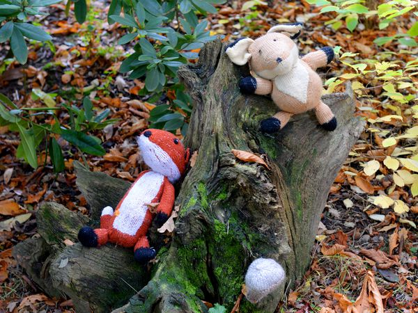 SHREWS COPYRIGHT EXPRESS&STAR TIM THURSFIELD-18/10/20.Knitted items of all shapes and sizes fill the paths around Attingham Park for the Woollen Woods Trail..
