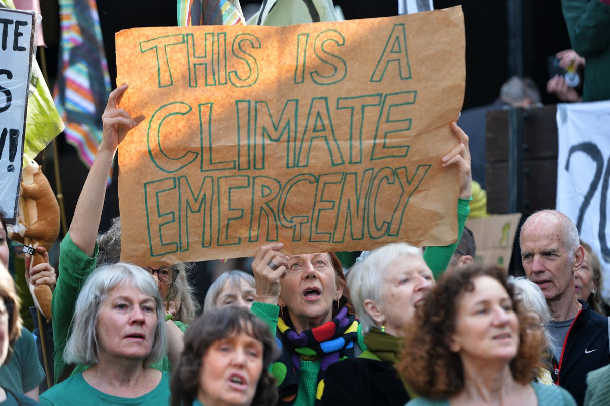 Climate change protesters at Shirehall
