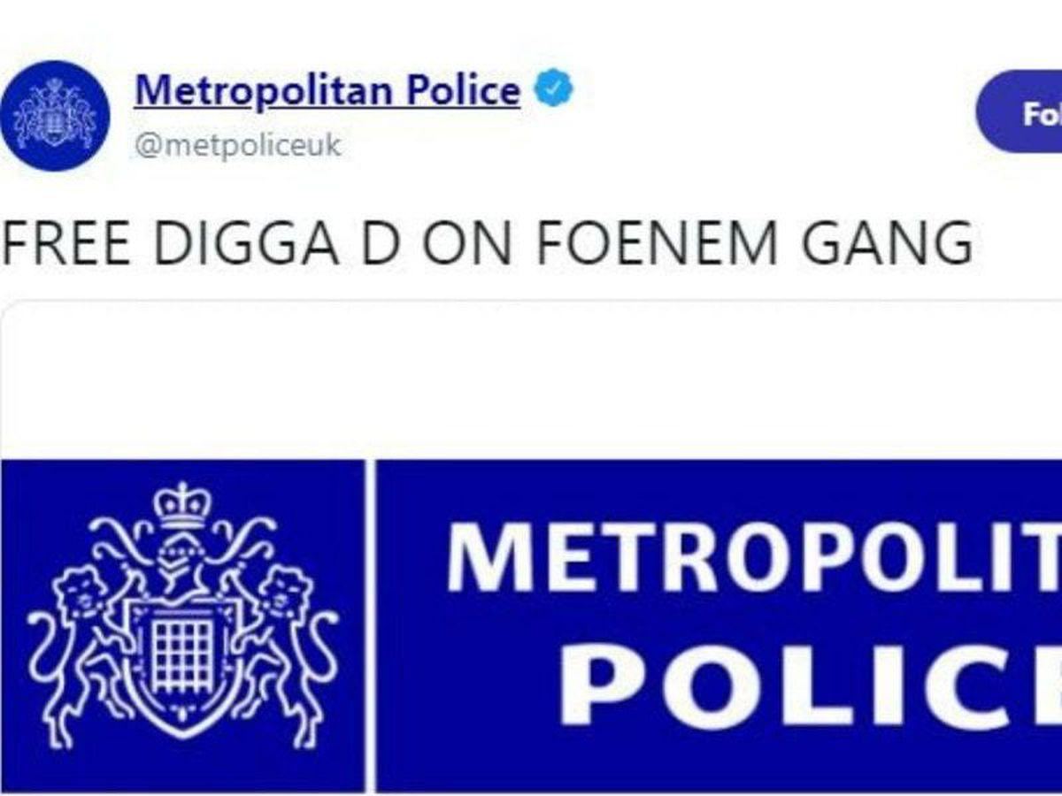 Hackers post bizarre 'unauthorised' messages on Met Police Twitter ...