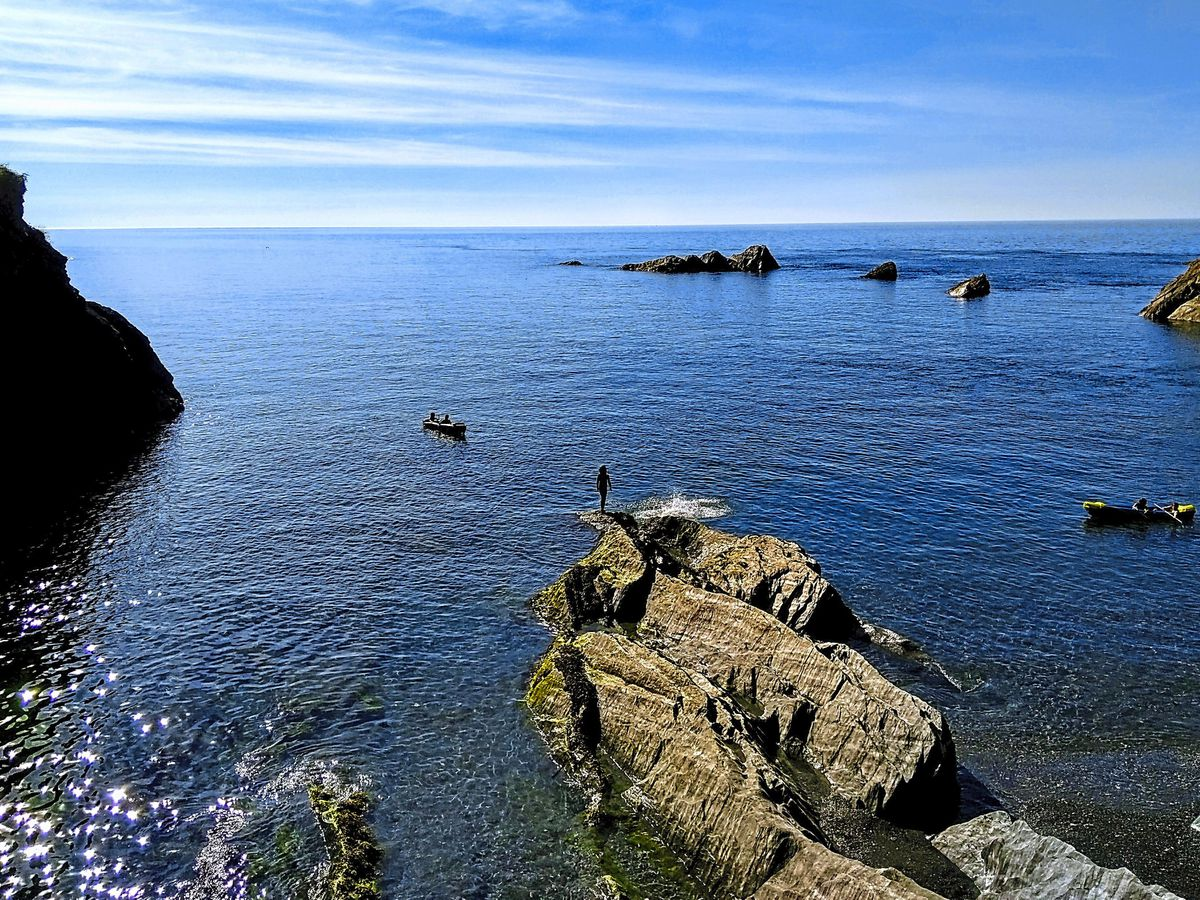 Now you sea it – Tunnels Beaches in Ilfracombe with its rugged coastal landscape