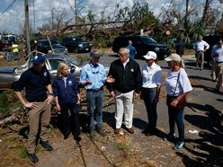 Trump views damage in hurricane-hit Florida
