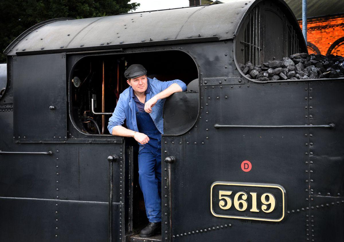 Steam Gala at Severn Valley Railway's Kidderminster Station..Driver Dave Evans