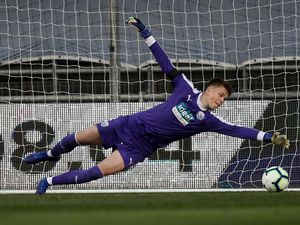 Manchester City open the scoring past Josh Griffiths of West Bromwich Albion. (AMA)