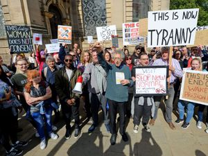 A huge crowd protest in the centre of Birmingham against the new lockdown measures announced for the city, as well as Sandwell and Solihull
