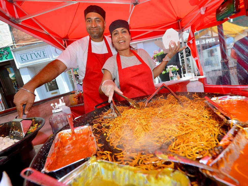 Currying flavour at Oswestry Food Festival - with pictures