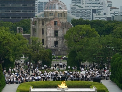 In pictures: Hiroshima pays respects on 75th anniversary of bombing