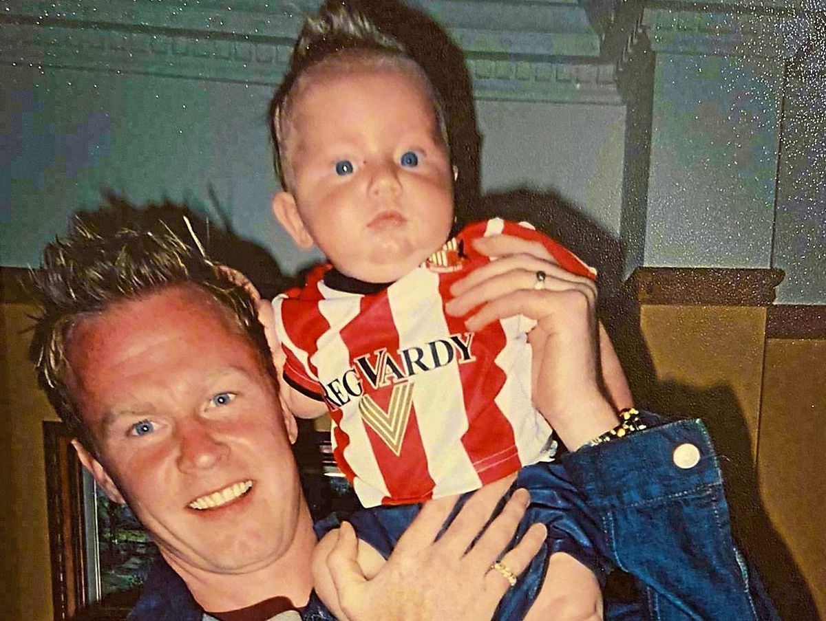 Jody Craddock with his little boy Jake, who would have been 18 today