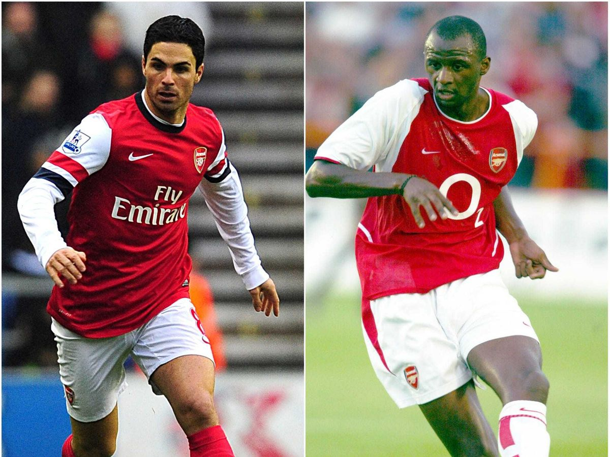 Both Mikel Arteta and Patrick Vieira captained Arsenal during their playing careers