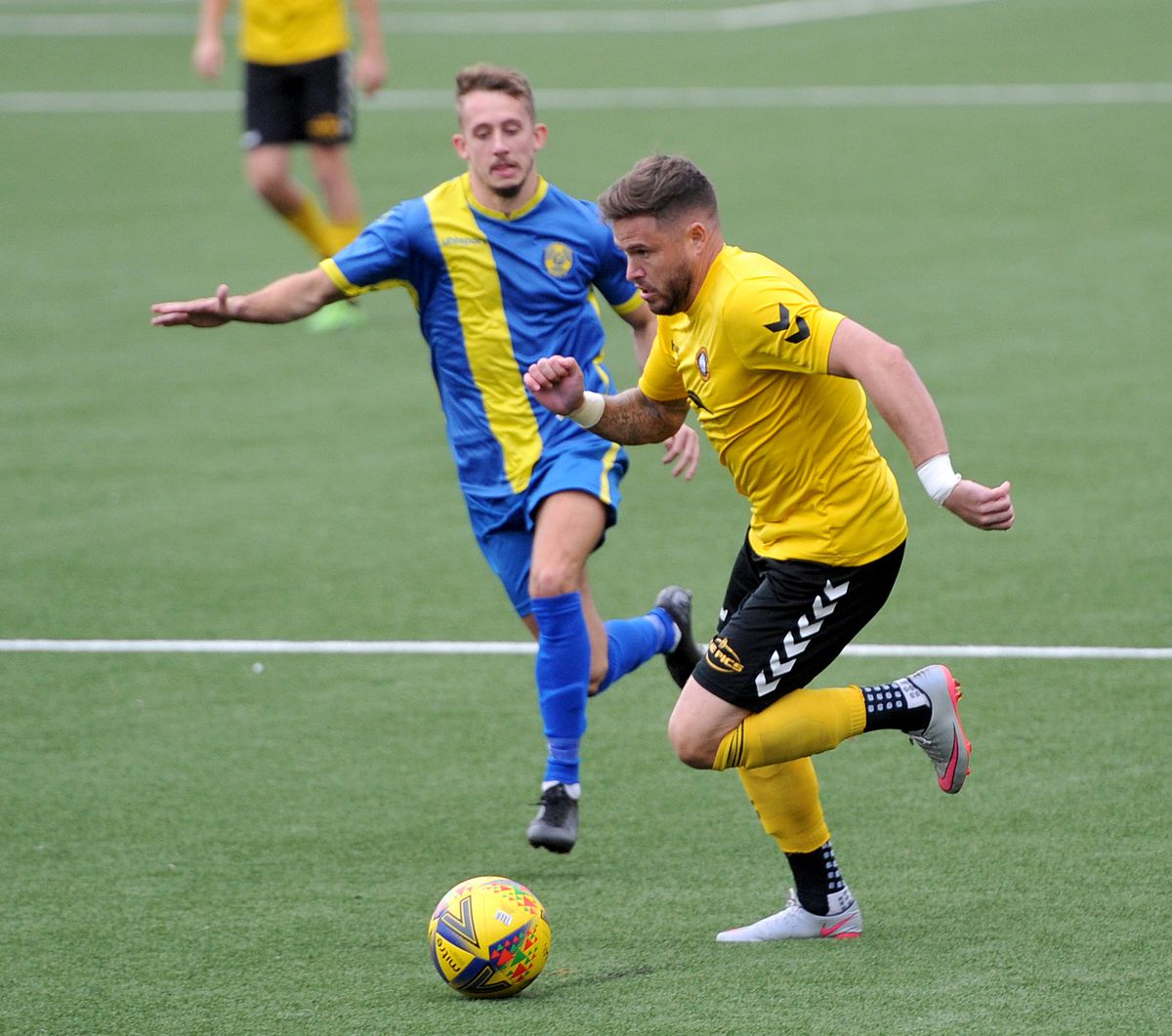 Michael Kightly makes his home debut for Rushall.