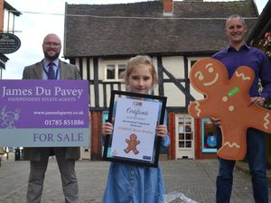 Neave Rowley with Lee Davies, left, and James Du Pavey of the James Du Pavey estate agents