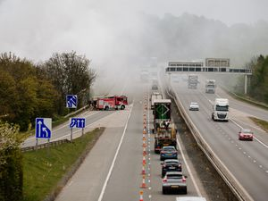 Smoke from a fire at Greenway has caused disruption on the M54