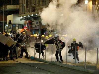 Protesters attacked by masked assailants in Hong Kong metro station
