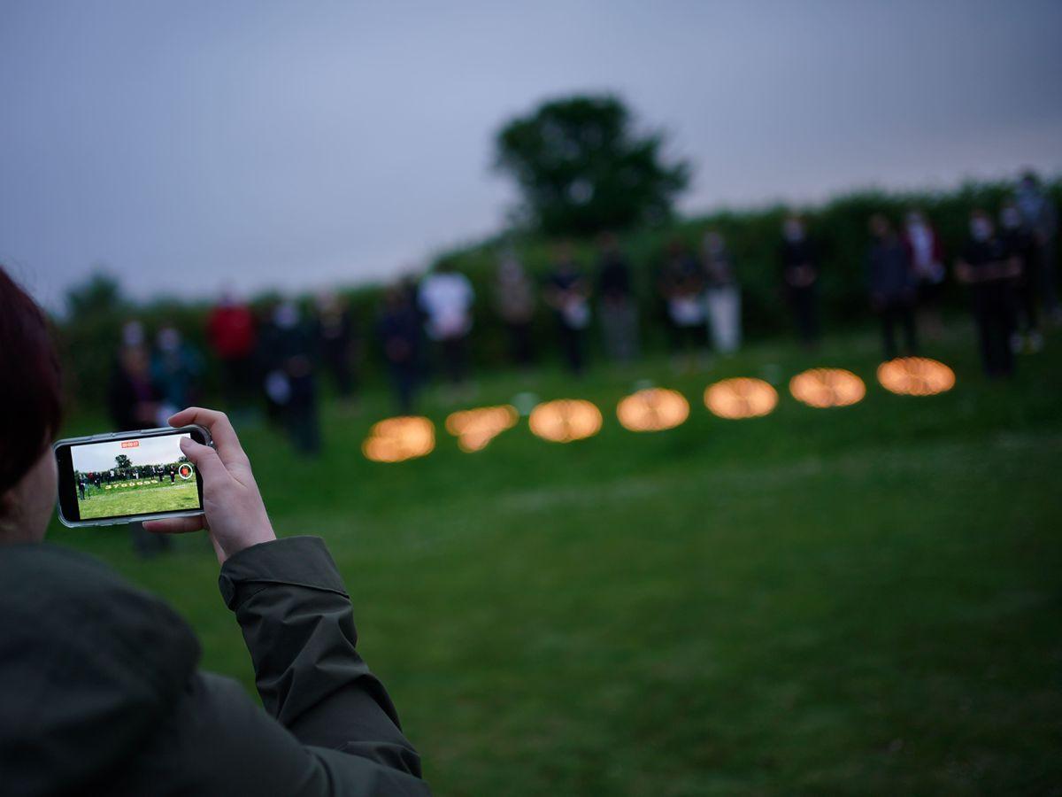 People at a coronavirus vigil in Falmouth