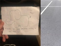 This might be the best response to a badly parked car anyone's ever seen