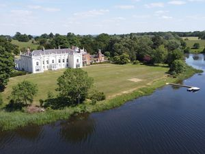 Aerial shot of Combermere Abbey