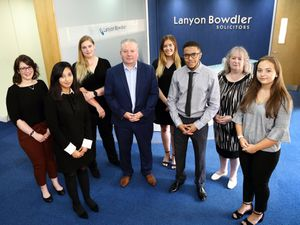 The new Lanyon Bowdler Court of Protection department, from left: Jade Smalley, Naila Kosser, Lucy Speed, Neil Davies, Emma Farrington, Omar Jones-Lewis, Carole Walker, Lucy Allen.
