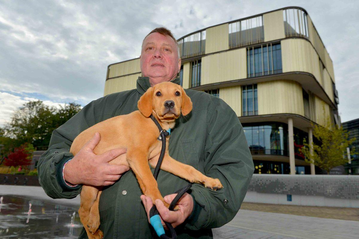 A&E saved my life – Richard Crossman with dog Bonnie