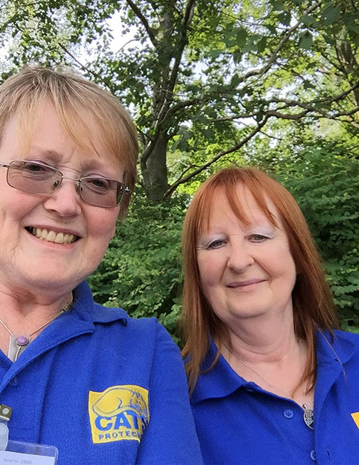 Sheila Phillips and Carol Evans from the Newtown & District Branch of Cats Protection