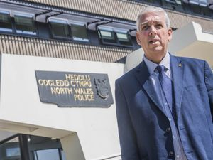 Arfon Jones, the North Wales Police and Crime Commissioner at Police HQ in Colwyn Bay.g