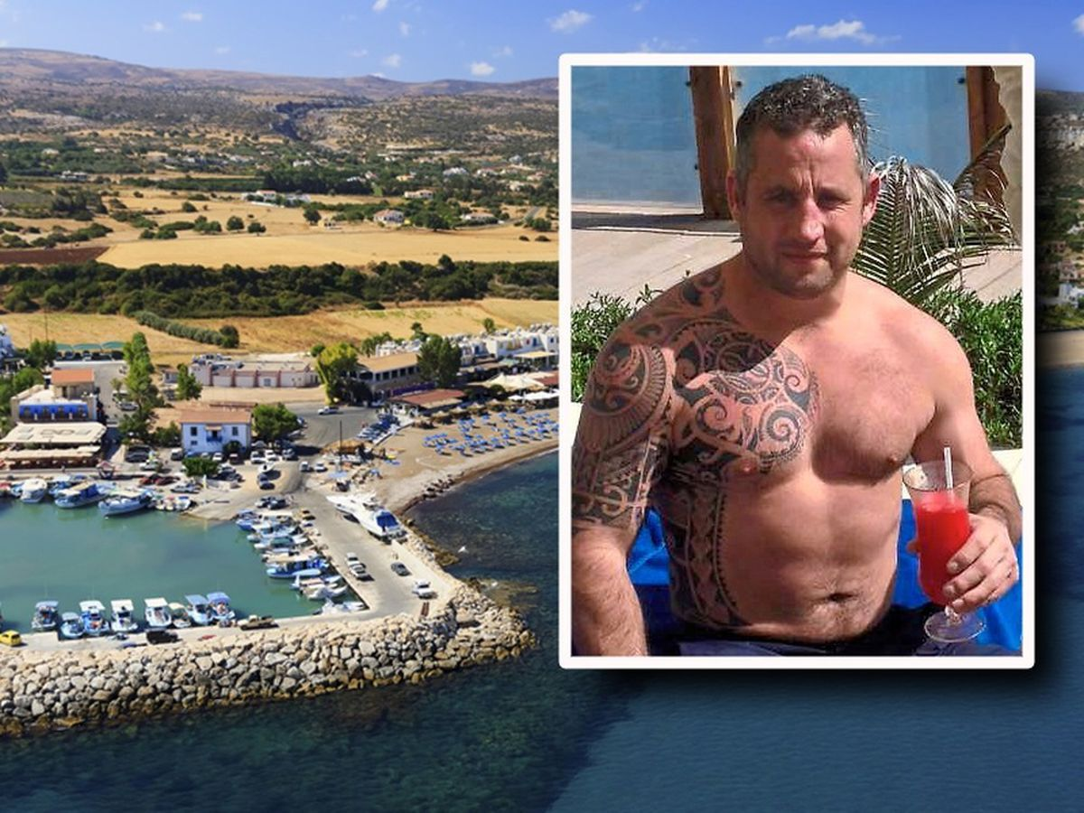 Charlie Birch, inset, and the holiday resort in Cyprus