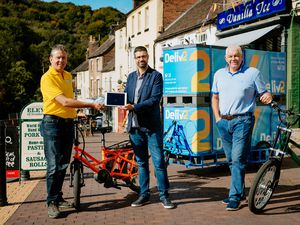 Malcolm Evans, co-founder of Deliv2, Simon Keavons, COO for Shoothill, and Barrie Childe, co-founder of Deliv2