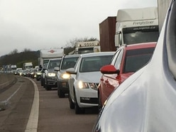 Rush hour delays on M54 after multi-car crash