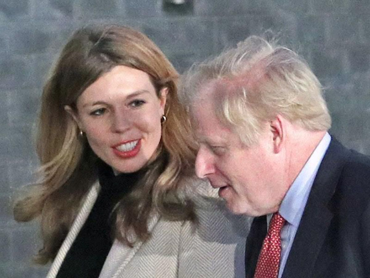 Carrie Symonds with Boris Johnson